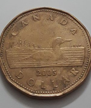 Canadian $ 1 Collectible Foreign Coin 2005-fii
