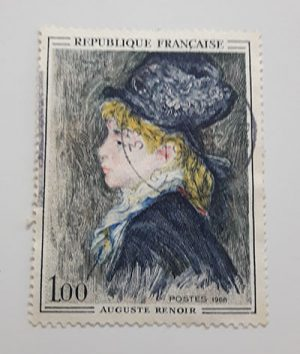 A very beautiful and rare collection of foreign stamps from France in 1968-gpp