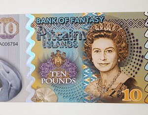 Fancy collectible foreign banknote image of Queen Elizabeth-gcc