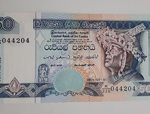 Collectible foreign banknotes of Sri Lanka, beautiful and rare design of 2004 (bank quality)-gvv