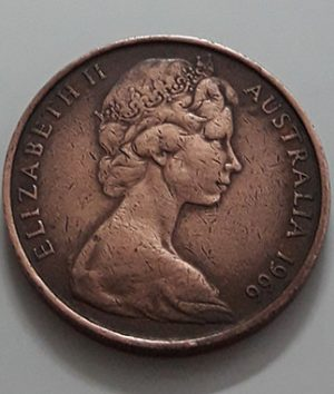 Collectible foreign coin of the beautiful design of Australia in 1966-mgm