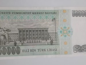 Collectible foreign banknotes of a very beautiful design of Turkey in 1970-oho