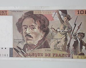 Foreign banknotes and collectibles, beautiful and rare design of France, 1990, large size-hvv