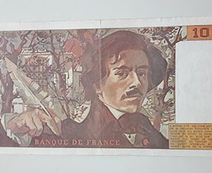 Foreign banknotes and collectibles, beautiful and rare design of France, 1990, large size-vhv