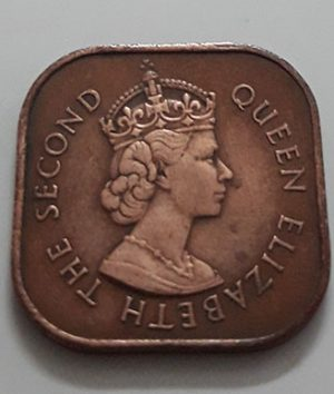 Collectible foreign coin of the British colony of Malaysia Picture of Queen Elizabeth 1961-irr