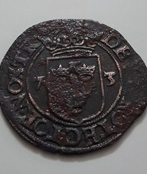 A rare and rarely seen foreign collectible coin and museum in Sweden, over 400 years old-ibb