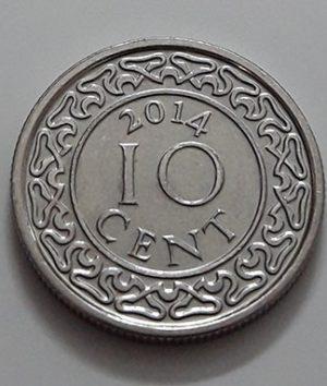 Suriname Country Collectible Foreign Coin Rare Type 10 Unit 2014-ojo