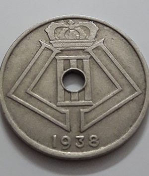 Collectible foreign coin, beautiful and rare design of Belgium, 1938-jdd
