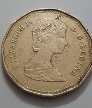 Canadian $ 1 Collectible Foreign Coin Queen of the Year 1983-ljl