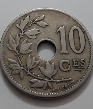 Collectible foreign coin, beautiful and rare design, Belgium, unit 10, 1902-vjv