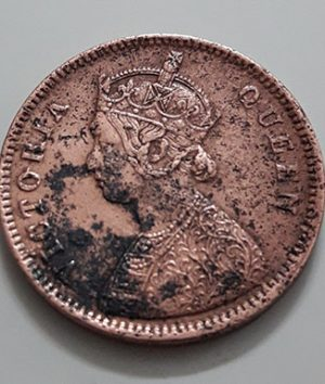 Collectible foreign coins of Queen Victoria of India in 1862-loo