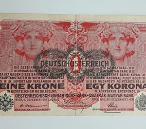 Collectible foreign banknote of the beautiful design of Hungary in 1916-aqo