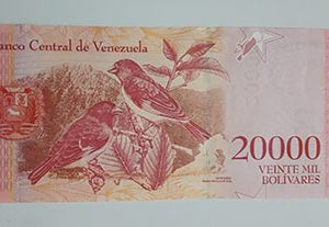 Collectible foreign banknote of the new type of Venezuela, 20,000 units, 2017-lar