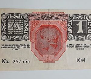 Collectible foreign banknote of the beautiful design of Hungary in 1916-oaq