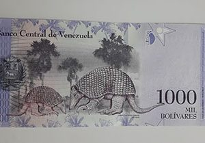 Collectible foreign banknote of the new type of Venezuela, 1000 units, 2017-uta