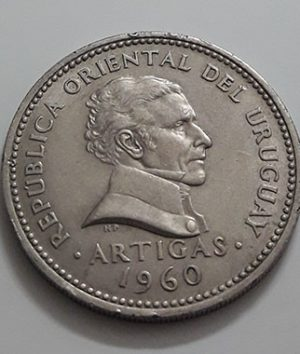 Collectible foreign coins of the beautiful design of Uruguay in 1960-atp