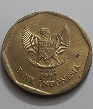 Foreign collection coin commemorating the beautiful design of Indonesia in 1997-hat