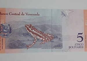 Collectible foreign banknote of the new type of Venezuela, unit 5, 2018-way