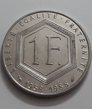 Foreign commemorative collectible coin of France, new type, 1988-iay