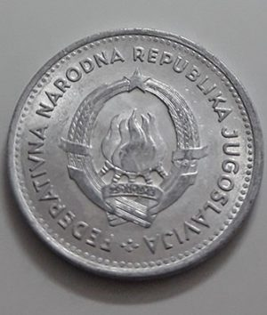 Collectible foreign currency 2 dinar Yugoslavia 1953-jay