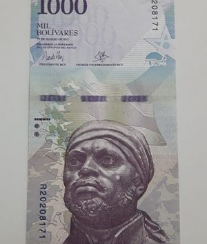 Collectible foreign banknote of the new type of Venezuela, 1000 units, 2017-ayb