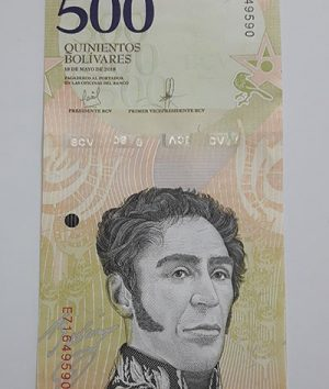 Collectible foreign banknote of the new type of Venezuela, 500 units in 2018-ayn