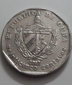 Collectible foreign coins, beautiful design of Cuba, 2002-dau