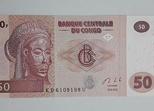 Collectible foreign banknotes of the beautiful design of Congo in 2013-aio