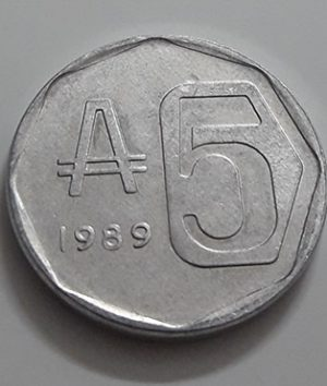 Argentina Collectible Foreign Coin 1989-aif