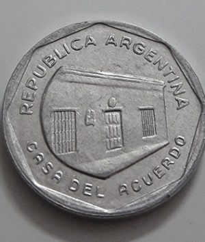 Collectible foreign coin of Argentina, unit 10, 1989-gai