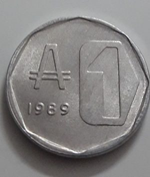 Collectible foreign currency of Argentina, unit 1, 1989-aih