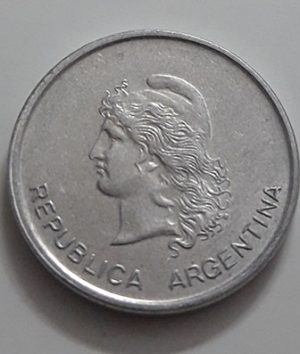 Collectible foreign coin, beautiful design of Argentina, unit 50, 1983-aij