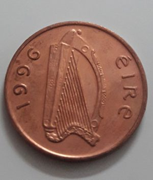 Collectible foreign currency of Ireland in 1996-baq