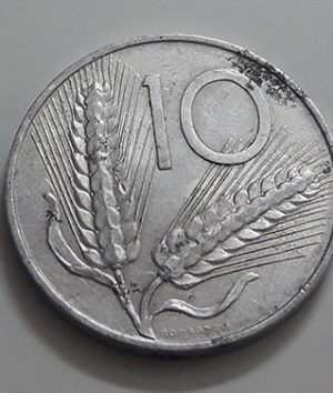Collectible foreign coins of Italy in 1951-aod