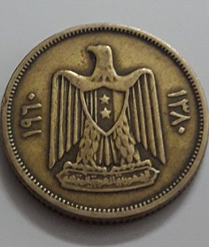 Collectible foreign coins of ancient Syria in 1960-aoh