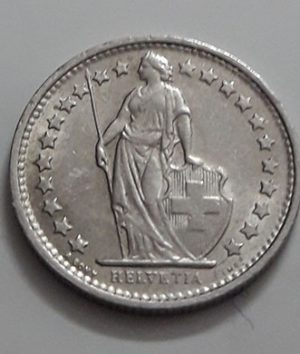 Swiss foreign collectible coin 1971-aoj