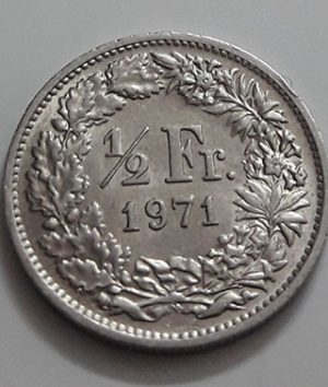 Swiss foreign collectible coin 1971-jao