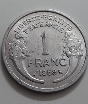 Collectible foreign coins of beautiful design of France with extremely high quality in 1959-zao