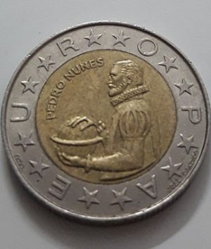 1998 Portuguese Bimetallic Collectible Foreign Coin-awx
