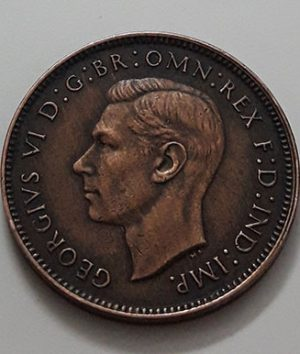 British Farting Collectible Foreign Coin King George VI in 1940-baw