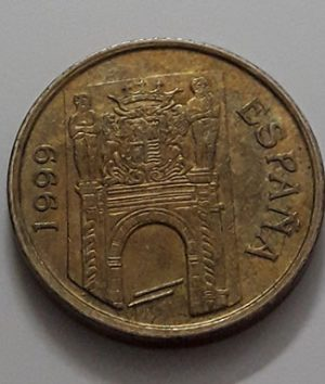 Foreign commemorative collectible coin of Spain in 1999-awd