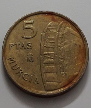 Foreign commemorative collectible coin of Spain in 1999-daw