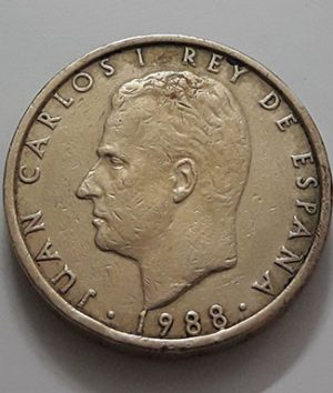 Collectible foreign coins of Spain in 1988-awf