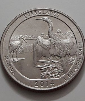 US National Park Quarter Memorial Collectible Foreign Coin stands for (D) 2014-aey