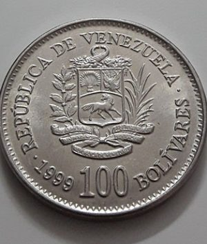 Venezuela Collectible Foreign Coin 100 Unit 1999-uae
