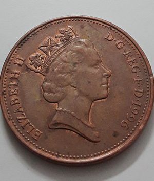 Collectible foreign coin of the beautiful design of the British Queen with a crown in 1996-sae