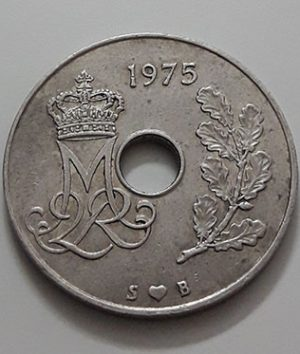 Collectible foreign coins of Denmark in 1975-aek
