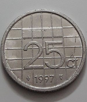 Collectible foreign coin of the Netherlands in 1997-ael