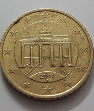 50 EU Cents Collectible Foreign Coin 2004-aev