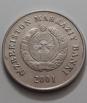 Collectible foreign coins of Uzbekistan in 2001-are